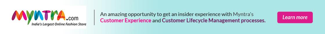 Letsintern banner - Internship Opportunity   Internships in Myntra   Customer Service Internships