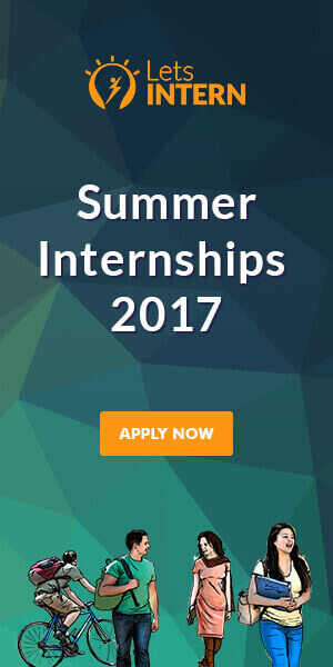 Letsintern Banner - Summer Internships 2017 | Internship in Summer for College Students | Paid Internships in India